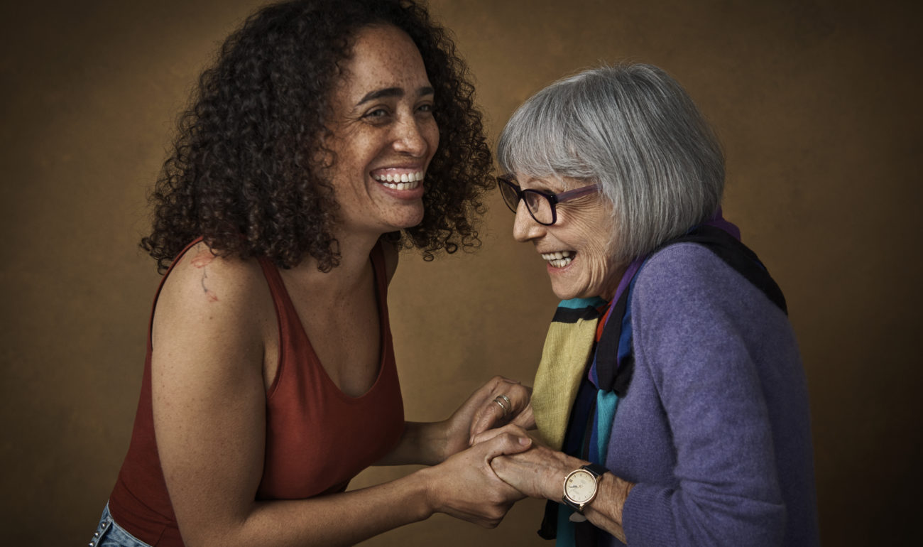 guild living_younger and older woman laughing