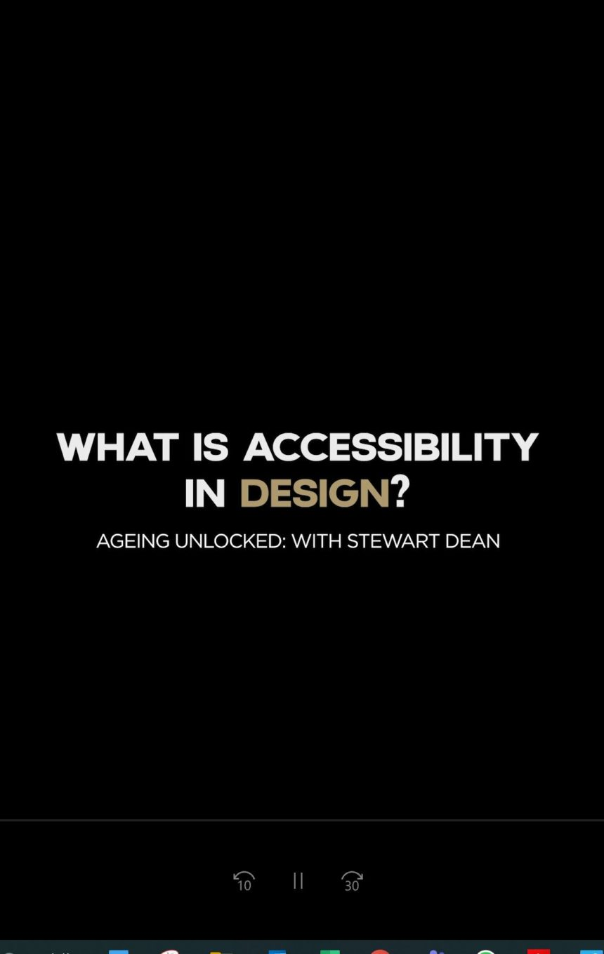 What is accessibility in design?