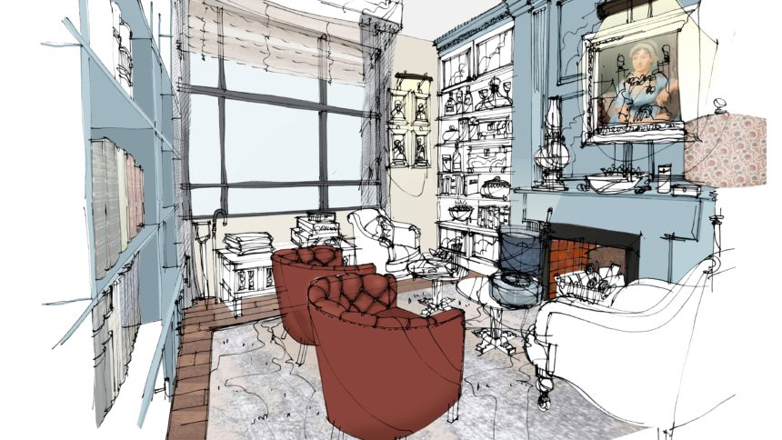 Guild Living interior sketch later living suitable homes