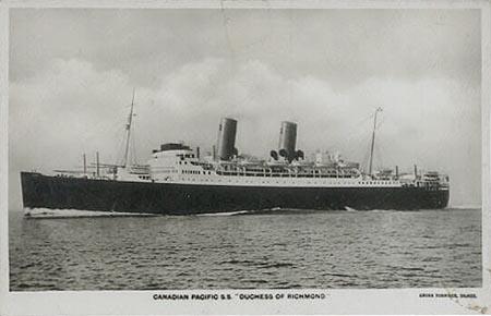 Anthony's story Duchess of Richmond boat