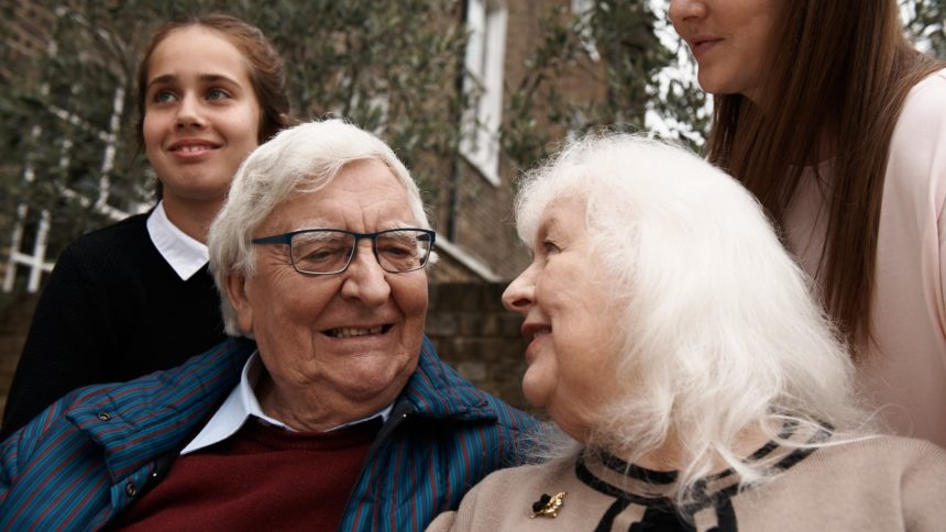 family smiling in colne valley regional park